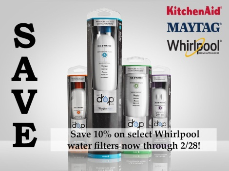 Save 10% on Whirlpool Filters
